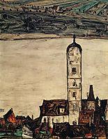 Church in Stein on the Danube, 1913, schiele