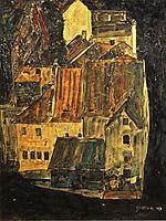 City on the Blue River, 1910, schiele