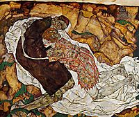 Death and the Maiden, 1915, schiele