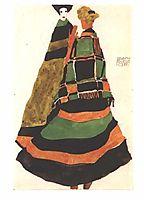 Design for a postcard, 1911, schiele