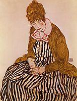 Edith Schiele, Seated, 1915, schiele
