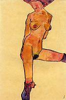 Female Nude, 1910, schiele