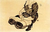 Female Torso, Squatting, 1912, schiele