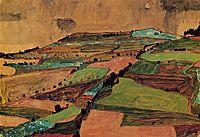Field Landscape (Kreuzberg near Krumau), 1910, schiele