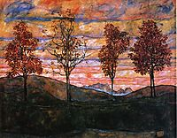 Four Trees, 1917, schiele