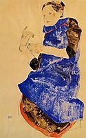Girl in a Blue Apron, 1912, schiele