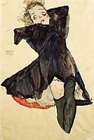 Girl in Blue Dress, 1911, schiele