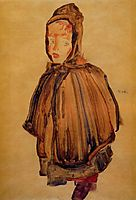 Girl with Hood, 1910, schiele
