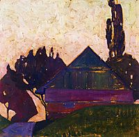 House Between Trees I, 1908, schiele