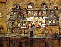 House on a River (Old House I), 1915, schiele