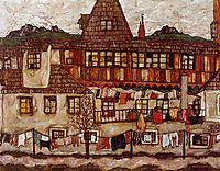 House with Drying Laundry, 1917, schiele