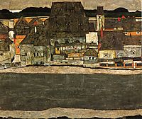 Houses by the River (The Old City), 1914, schiele