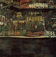 Krumau on the Molde, The Small City, c.1912, schiele