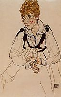 Madame Schiele, 1917, schiele