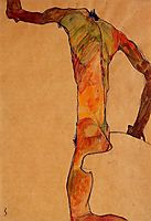 Male Nude, c.1910, schiele