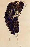 Man Bencind Down Deeply, 1914, schiele