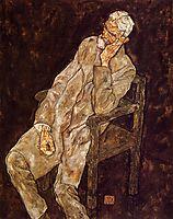 Portrait of an Old Man (Johann Harms), 1916, schiele