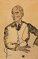 Portrait of Dr. Viktor Ritter von Bauer, 1917, schiele