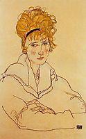 Portrait of Edith Schiele, 1918, schiele
