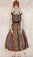 Portrait of Edith Schiele, the artist-s wife, 1915, schiele