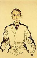 Portrait of Heinrich Rieger, 1917, schiele