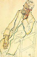 Portrait of Johann Harms, 1916, schiele