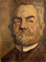 Portrait of Leopold Czihaczek (Head of a Bearded Man I), 1907, schiele