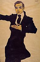 Portrait of the Painter Max Oppenheimer, 1910, schiele