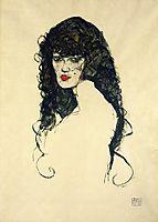 Portrait of a Woman with Black Hair, 1914, schiele