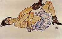 Reclining Female Nude, 1917, schiele