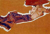 Reclining Semi Nude with Red Hat, 1910, schiele