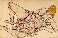 Reclining Woman with Blond Hair, 1914, schiele