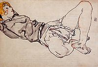 Reclining Woman with Blonde Hair, 1912, schiele