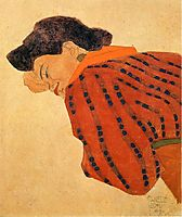 Reclining Woman with Red Blouse, 1908, schiele