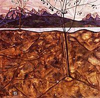 River Landscape, 1913, schiele
