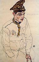 Russian Prisoner of War (Grigori Kladjishuli), 1916, schiele