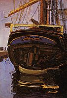 Sailing Ship with Dinghy, 1908, schiele