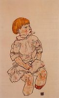Seated Child, 1917, schiele