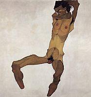 Seated male Nude, 1910, schiele