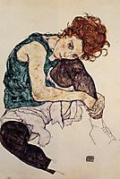 Seated Woman with Bent Knee, 1917, schiele