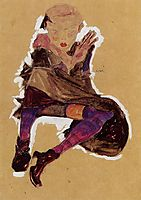 Seated Young Girl, 1910, schiele