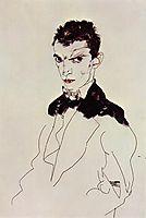 Self Portrait, 1912, schiele