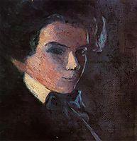 Self Portrait, Facing Right, 1907, schiele