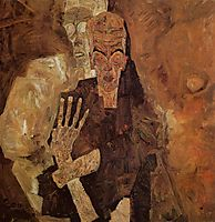 The Self Seers (Death and Man), 1911, schiele