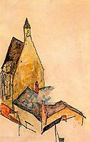 Spitalskirche, Molding, 1918, schiele