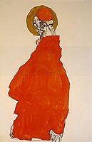 Standing Figure with Halo, 1913, schiele