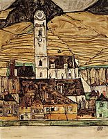 Stein on the Danube, 1913, schiele