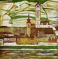 Stein on the Danube, Seen from the South, 1913, schiele