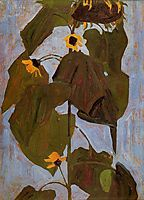 Sunflower, 1908, schiele