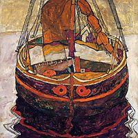 Trieste Fishing Boat, 1912, schiele